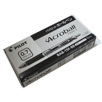 パイロットボールペンアクロボール150BAB-15F-BB10本ブラック