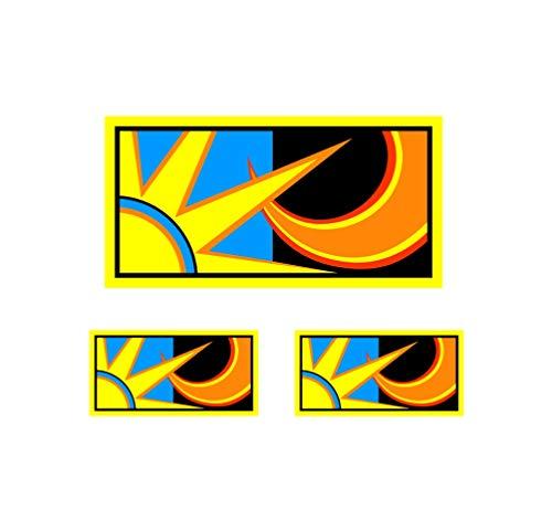 Valentino Rossi Autocollant Soleil et lune vinyle 2013