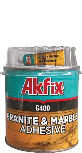 AkfixG400 Knife Grade Epoxy Glue. Marble, Granite, Stone, Tile, Cracks, Chips and Joints. 500gr (17.6 oz)