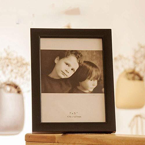 KTDT Fotorahmen Massivholz, verzierter, schicker Bilderrahmen, Wandbehang und Tischplatte, handpolierte Premium-Kombination aus neuseeländischem Kiefernholz und hochtransparenter Glaskombination.