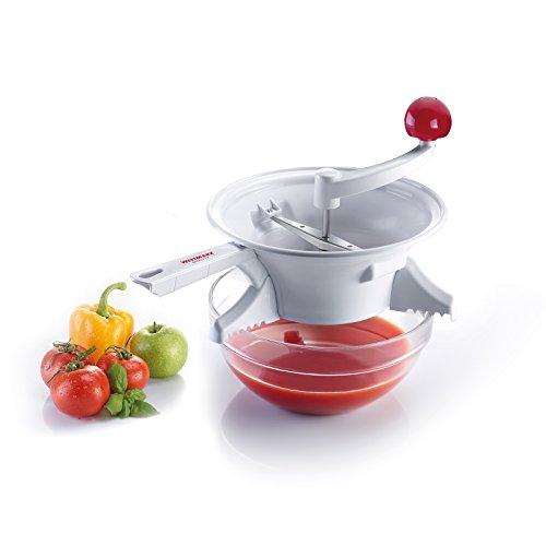 Westmark 11962260 Moulin à légumes, Plastique, Argent, 35,5 cm