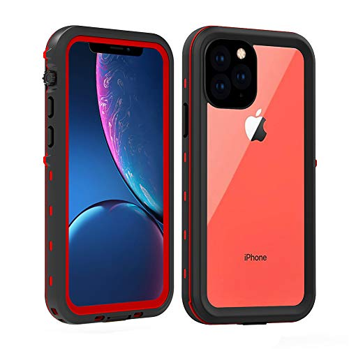 Redpepper Waterproof Case Cover for Apple iPhone 11 Pro Max, Shockproof Snow DirtProof Red