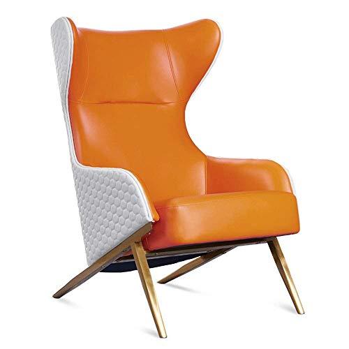 Office Life Einzelsofa Liegesessel Sessel mit osmanischem PU-Leder für Wohnzimmer, Schlafzimmer Spezialitäten Liegestuhl (Farbe: Blau, Größe: Freie Größe)
