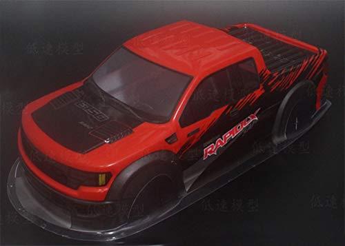 HONG YI-HAT Red de plástico de Color Amarillo/Azul/Shell del Cuerpo for HPI 1 / 10ª Monster Truck & HSP 94188 94111 94108 Piezas de Repuesto (Color : 1 10 DJCK R)