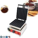 DBG Máquina para Hacer Waffles Churros congelados eléctrica Placa de Acero Inoxidable Rectangular...