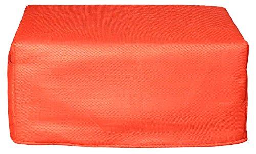 CANAPES TISSUS BRIO Pouf Convertible Canapé-Lit, Tissu, Orange, 81 x 62 x 36 cm