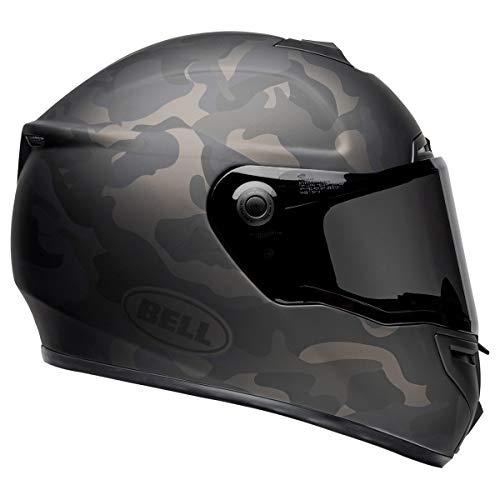 Bell SRT Street Motorcycle Helmet (Stealth Matte Black/Camo, Medium)