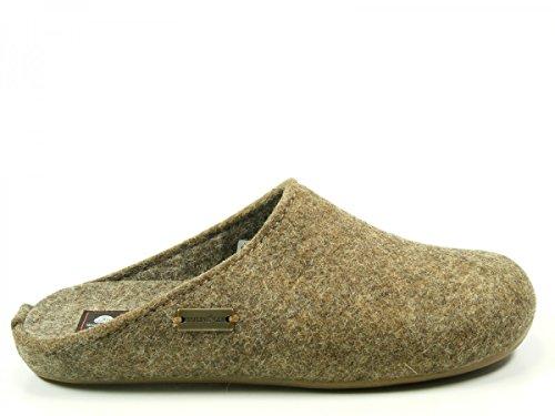 Haflinger Unisex-Erwachsene Everest Fundus Pantoffeln, Beige (Torf 550), 38 EU