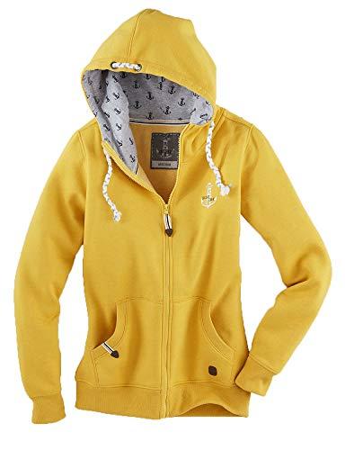 Leitfeuer Damen Sweatcardigan Farbe senf, Größe 3XL