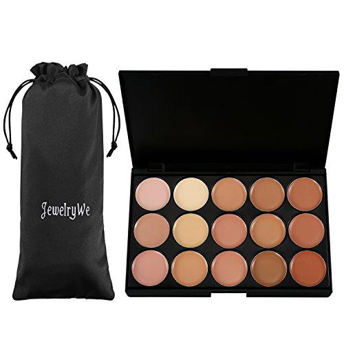JewelryWe 15 Couleurs Palette de Maquillage Correcteur Camouflage Crème Cosmétique Make-up