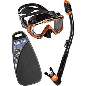 Cressi Premium Adult Dry Snorkel Combo Set