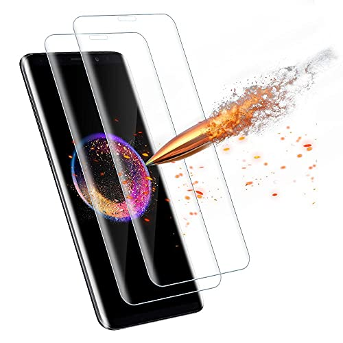 Agedate für Samsung Galaxy S8 Plus Schutzfolie Panzerglas[2 Stück], 9H Härtglas Kratzfest Displayschutz, Ultra-klar Panzerglasfolie Kompatibel mit Samsung S8 Plus