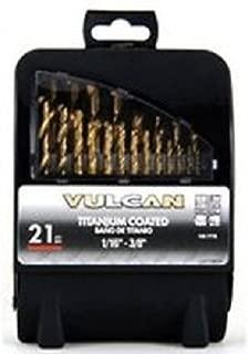 VULCAN 211990OR Bit Drill Titanium Set 21Pc