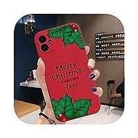 新年メリークリスマスエルクスノーフレークFor iPhone12 PRO XR XS MAX 7 6 8 PlusTPUシリコンケース11 promax-TPU H14-For 12 pro MAX