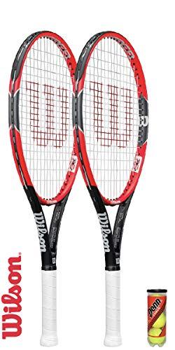 Wilson Pro Staff 25 Junior Tennisschläger + 3 Tennisbälle (2 Schläger + Bälle)