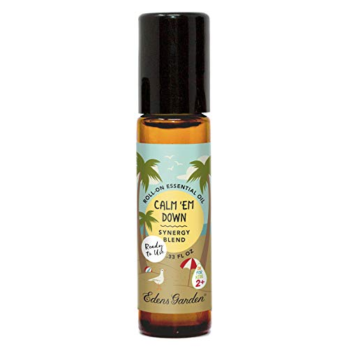 Edens Garden Calm 'Em Down'OK For Kids' Essential Oil Synergy Blend, 100% Pure Therapeutic Grade (Child Safe 2+, Pre-Diluted & Ready To Use- Anxiety & Stress) 10 ml Roll-On