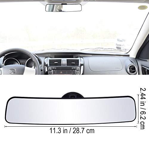 NYSCJJJ Panorama-Rückspiegel Universal-Weitwinkel Rückspiegel mit Sauganlage Auto-Innenspiegel Rückspiegel
