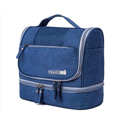 CYBERNOVA Bolsa de Aseo para Viajes, Kit Grande de Organizador cosmético Resistente al Agua, Bolsa de Aseo compacta Hombres y Mujeres (Azul)