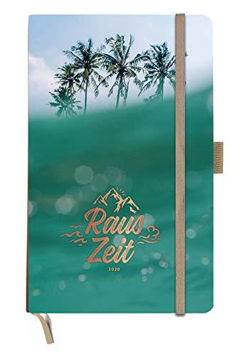 Rauszeit Kalenderbuch A5 - Mit horizontalem Kalendarium - Kalender 2020 - Heye-Verlag - Taschenkalender mit Stifthalter, Lesebändchen und Gummibandverschluss - 13 cm x 21 cm