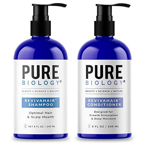 Pure Biology Premium RevivaHair Biotin Shampoo & Conditioner