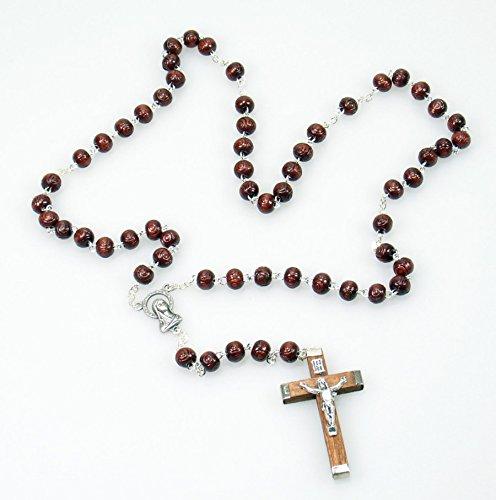 Chapelet – verzierte perle & Croix de Bois, Verzierte Perle & Holzkreuz