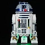 QZPM Conjunto De Luces para Lego (Star Wars R2-D2) Modelo De Construcción De Bloques Kit De Luz LED Compatible con 75308(NO Incluido En El Modelo),A