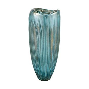 Elk Home Sinkhole Vase Aqua Blue Grey