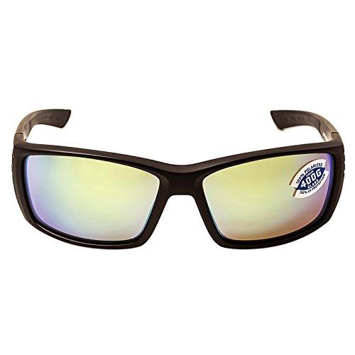 Costa Del Mar Men's Cortez Wrap Sunglasses, Matte Gray/Blue Mirror-580G, 61 mm