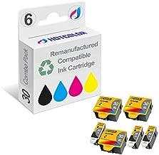 HOTCOLOR 30 Series Black Color Ink Cartridge-6 Pack Replacement for Kodak 30XL Compatible for ESP 3.2 All-in-One ESP C110 ESP C310 ESP C315 ESP Office 2150