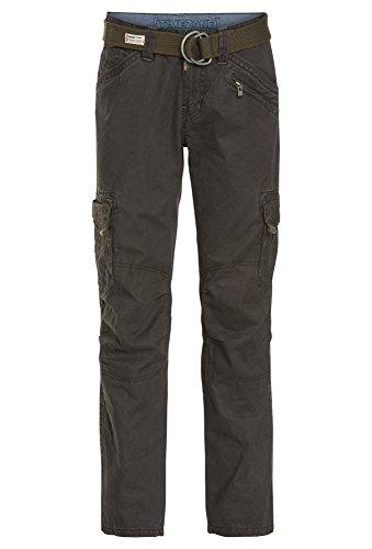 Timezone Herren Cargo Hose BenitoTZ pants incl. belt, Gr. 48 (Herstellergröße: 32/32), Grau (blue graphite 9033)