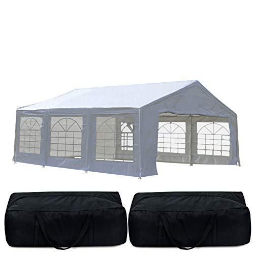Quictent 4X6M Marquee Wedding Party Tent Heavy Duty Event shelter Garden Gazebo Carport Portable Garage...