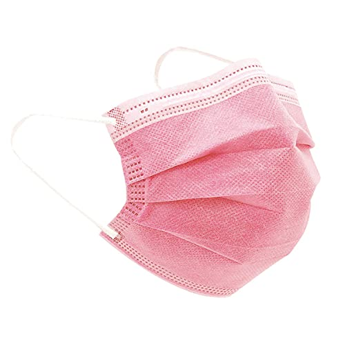 iCOOLIO Mund und nasenschutz, Masken mundschutz, mundschutz Maske, einwegmasken, Mund nasen schutzmaske, schutzmasken, Gesichtsmaske einweg, einmalmasken 50 Stück Rosa