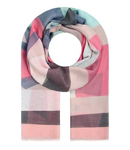 Majea Schal Damen Tuch Kopftuch Halstuch Schals und Tücher mit Muster Stola (rosa 29)