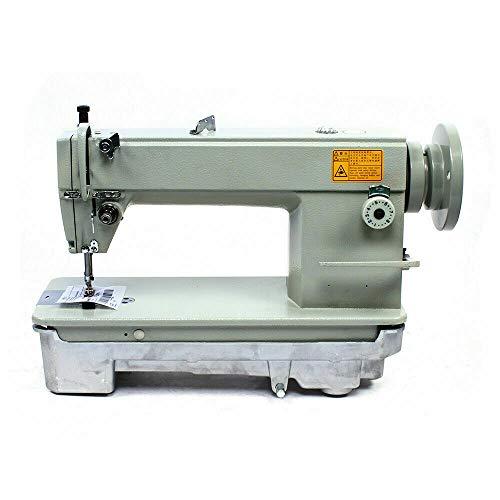 Máquina de coser Haroldol, 1 aguja, columna de costura, máquina de coser, máquina de coser con estructura de dos hilos y bobinadora, distancia máxima de puntada: 7 mm