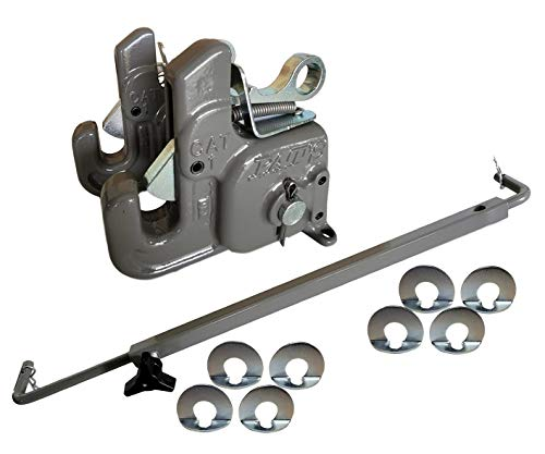 Category #1 Pat's Easy Change with Stabilizer Bar - Best Quick Hitch System On The Market – Flexible, Durable and Affordable - Comes w/ 4 Pair of Lynch Pin Washers