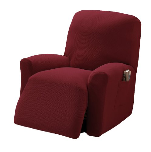 Stretch Sensations Crossroads Recliner Stretch Slipcover, Cocoa
