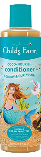 Childs Farm - Coco-Nourish Conditioner for Dry, Curly & Coily Hair, Detangles, Sensitive Scalp & Skin, 250ml