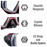 Tusa Visio Tri Ex Snorkeling Kit - Mask and Dry snorkel Set - Black/Metallic Red