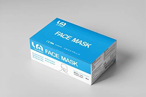 50 Stück Mundschutz 3-lagig, Schutzmaske, Mund-Nasen-Schutz, atmungsaktiv, sofort lieferbar