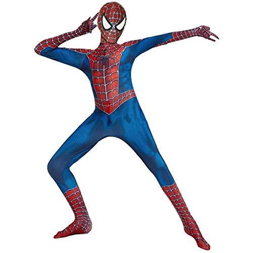 HTLXHC Disfraz de Spiderman para niños Unisex Traje de superhéroe infantil Spiderman Regreso a casa Halloween Carnaval Cosplay Fiesta Disfraces Spandex / Lycra Impresión 3D Spiderman para, C, M