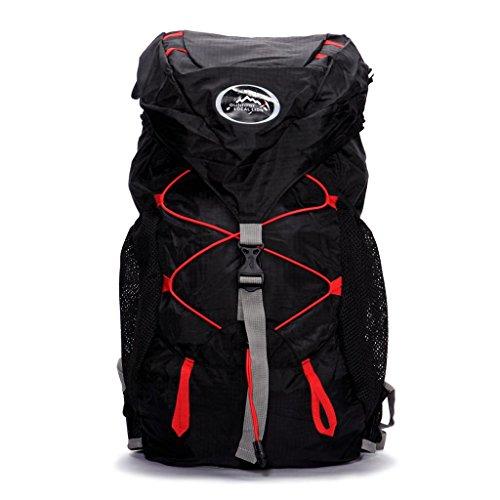 Local Lion borsa zaino unisex da spalla sportivo outdoor campeggio escursionismo viaggio nero
