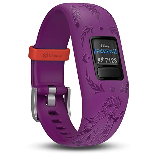 Garmin vívofit jr. 2 digitale, wasserdichte Action Watch im Disney Die Eiskönigin 2 Anna Design für Mädchen ab 4 Jahren, mit spannender Abenteuer-App, Schrittzähler, Batterielaufzeit bis zu 1 Jahr