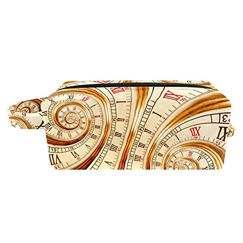 Neceser de viaje, bolsa de viaje impermeable de alta calidad con cremallera actualizada reloj viejo reloj reloj de 18,5 x 7,6 x 13 cm