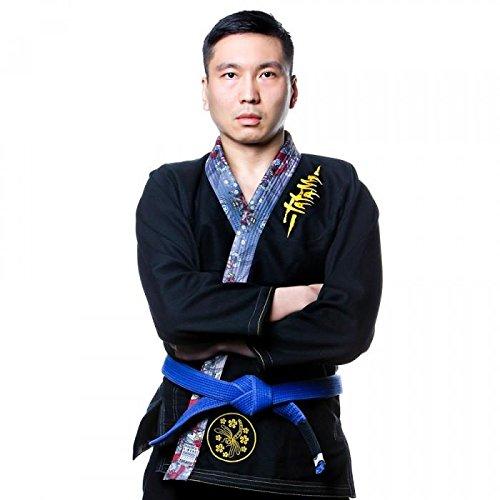 Tatami Fightwear Hombre Meerkatsu Dragon Fly BJJ Gi, Negro, A5