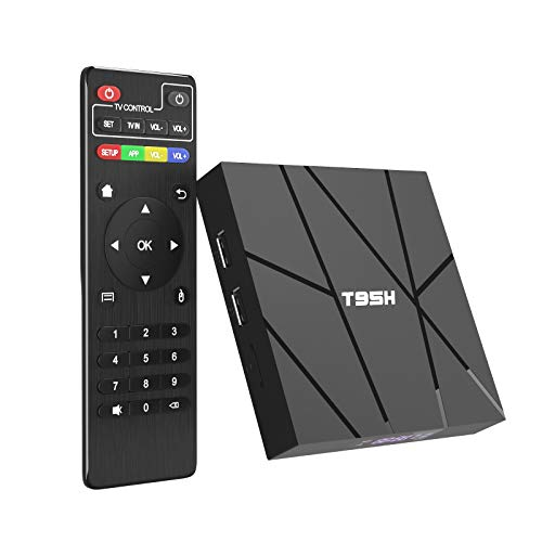 Android Tv Box 10.0 2GB RAM 16GB ROM Smart Tv Box, T95H Allwinner H616 Quad-core 2020 6K TV Box with 64bit,H.265, 3D, 2.4G WiFi, 10/100M Ethernet etc.