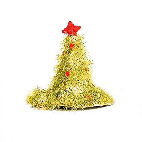 NOENNULL Cappello dellalbero di Natale, vestito Costume Cappello per la festa di Natale Divertente cappello di Natale Cappello di abete Cappello di Babbo Natale con palla di ghirlanda