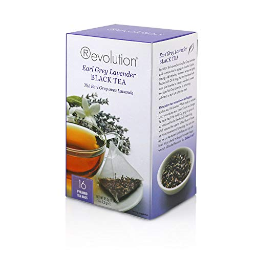 Revolution Tea - Earl Grey Lavender Black Tea | Premium Full Leaf Infuser Stringless Teabags - Improve Digestion (16 Bags Each - 6 Pack)