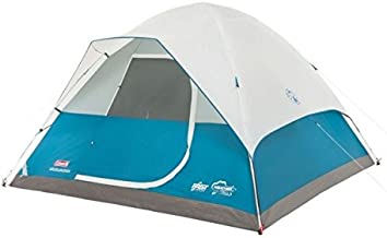 Coleman Longs Peak Fast Pitch 6-Person Dome Tent w/Rainfly, Blue, 10x10ft 2000019416