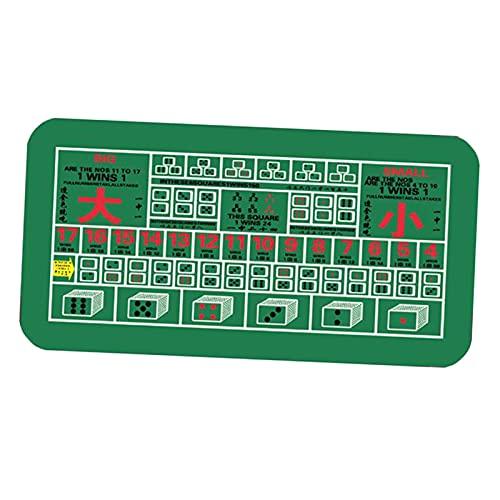 GHKLO Poker-Tischmatten-Layout Blackjack Casino 47X24'' Tischdecke Glücksspiel-Tischplatte Gummiauflage Casino-Spiele Roulette-Würfel-Wetten-Matte