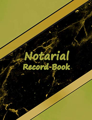 Notarial Record Book: A Notary Book To Log Notorial Record and report Acts By A Public Notary|Notary Planner|Notary Journal|